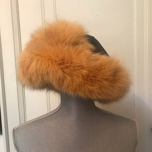 Genuine Leather & Fur Hat